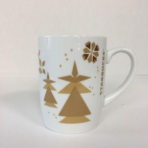 Starbucks Coffee Co. 2013 Gold Snowman Tree Mug